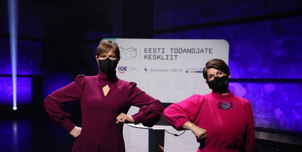 Eesti Vabariigi President Kersti Kaljulaid ja Eesti Tööandjate Keskliidu volikogu esinaine Kai Realo