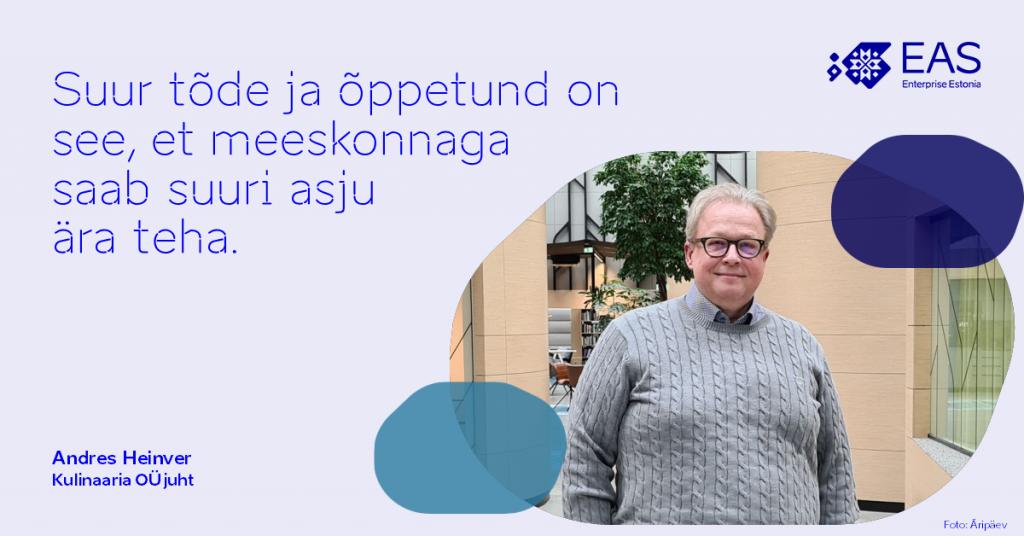 Kulinaaria OÜ juht Andre Heinver